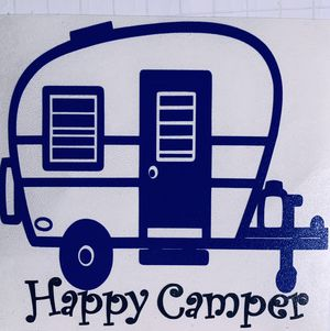 Vintage Trailer Happy Camper Sticker Available in Lots of Colors for Sale in Escondido, CA