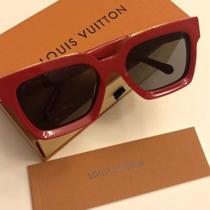 Red monogram Unisex Sunglasses ! ! New w/box ! No trades for Sale in Silver Spring, MD