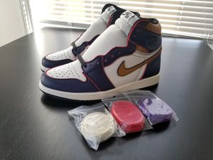 LAKERS New Nike Jordan 1 Retro OG Defiant SB LA to Chicago Size 9 NO BOX LAKERS for Sale in Los Angeles, CA