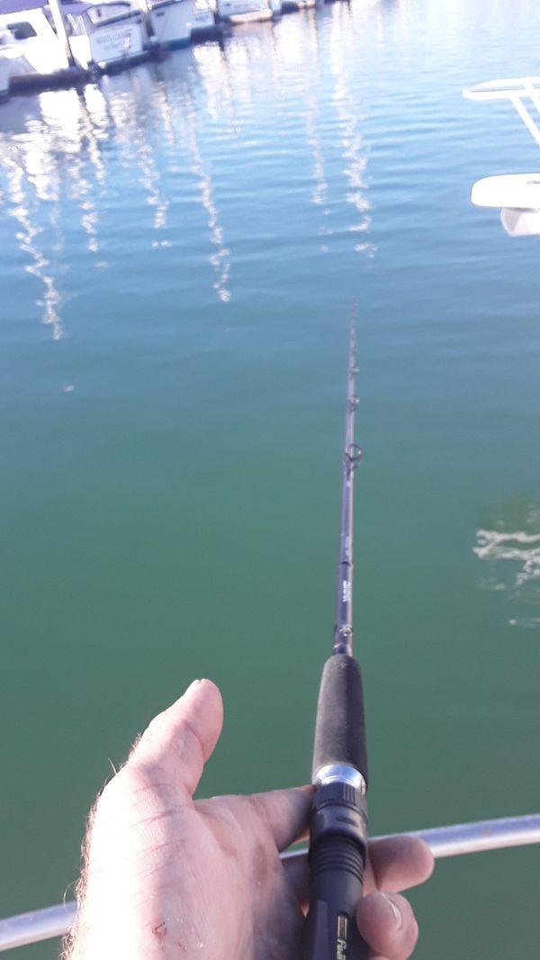 Diawa Proteus 80MFB NO REEL, 2 Tib framed narrow USA built senator 3/0s fishing, rod, pole, reel, boat, tuna, charter
