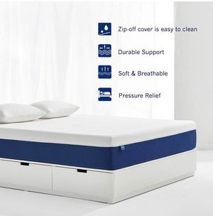 Molblly 8 inch Gel Memory Foam Mattress with CertiPUR-US Certified Foam Bed Mattress in a Box for Sleep Cooler & Pressure Relief, Queen Size for Sale in Peoria, AZ