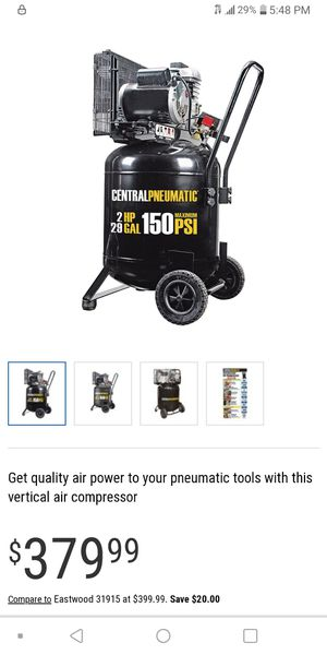 Central penamatic 150 psi air compressor for Sale in Kansas City, MO