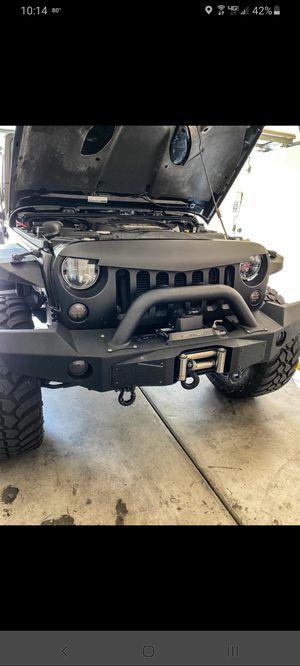 Jeep wrangler front steel bumper for Sale in Las Vegas, NV