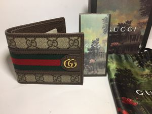 Gucci Ophidia Brown Leather Wallet Authentic for Sale in Queens, NY