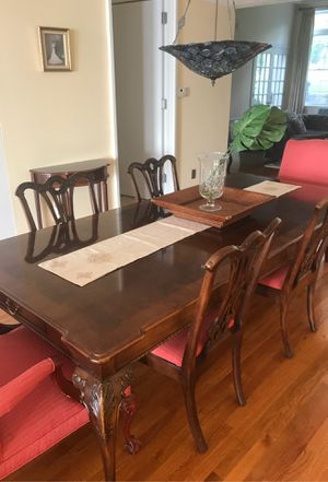 Thomasville dining room set with extension table and 6 chairs for Sale in Milford, CT