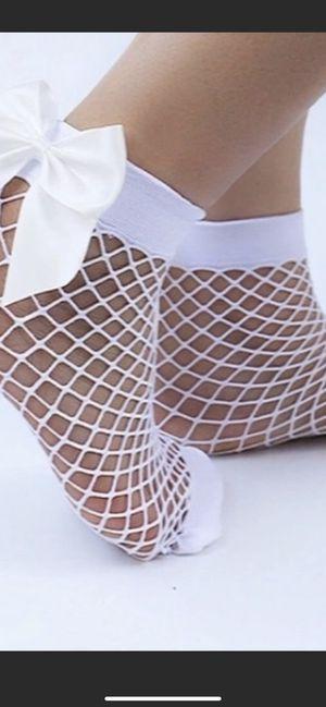 Super cute white fishnet socks for Sale in Roman Forest, TX