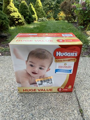 148 Huggies Little Snugglers size 2 for Sale in Worcester, MA