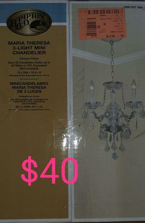 3 light maria crystal chandelier for Sale in Bakersfield, CA