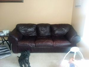 Real leather Sofa for Sale in South Whitley, IN