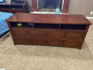 2 tv stands 20 by 64 used for Sale in Downey, CA