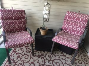 Patio Chairs, Storage Table , Planter & Outdoor Rug for Sale in Columbia, SC