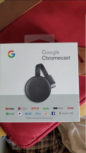 Google Chromecast 3rd Gen Streaming Media Player -Charcoal for Sale in Tempe, AZ