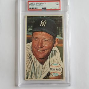 Mickey Mantle 1964 Topps Giants Baseball Card Graded PSA 7 for Sale in Marietta, GA