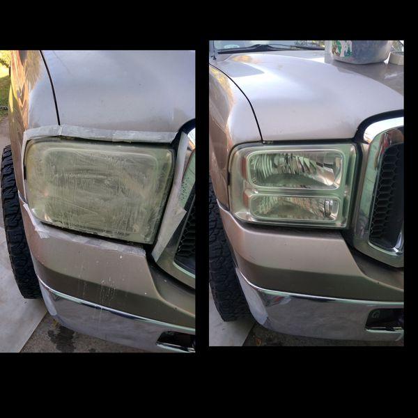 Headlight restoration, $30. Ill go to you.