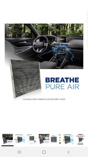 Hyundai Kia Cabin Air Filter - CP819 (CF11819) Replacement Includes Activated Carbon | Fits Hyundai/Chevrolet/GMC/KIA/Saturn for Sale in Las Vegas, NV