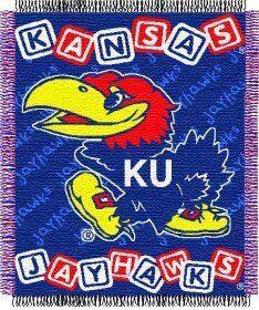 Kansas Jayhawks The Northwest Company Blanket Throw (Baby Blocks) for Sale in Glendale, AZ