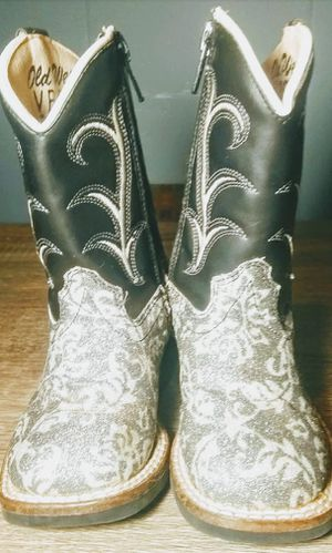 Old West Toddler Girls 4 Western Boots~Floral Glitter~Cowgirl~Cowboy~VB1010 for Sale in Lambsburg, VA