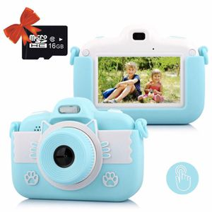Kids Digital Camera Rechargeable Camcorder Video Recorder Cartoon Shockproof Silicone Case with 16GB SD Card 12MP HD 1080P 3.0 Inch Touch Screen for for Sale in El Monte, CA