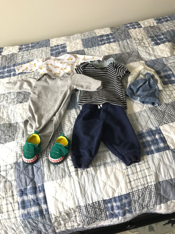 Lot of baby boy clothes 3-6 months, 6 months sizes