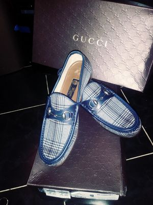 100% Authentic Gucci loafers, sz 8/US 9, Navy Plaid for Sale in Fort Washington, MD