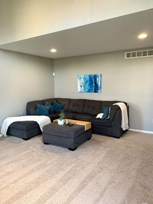 Large sectional couch and ottoman for Sale in Ypsilanti, MI