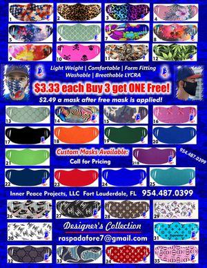 Face Masks 35 patterns-washable-breathable for Sale in Fort Lauderdale, FL
