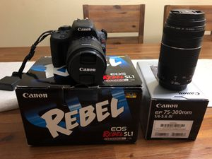 Canon Rebel SL1 Camera with additional 75-300mm lens for Sale in Kissimmee, FL