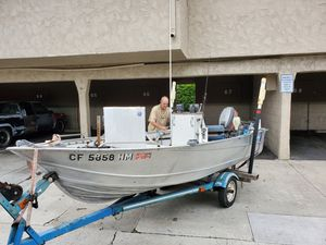 15ft Westcoaster Welded Aluminum fishing boat for Sale in Tustin, CA