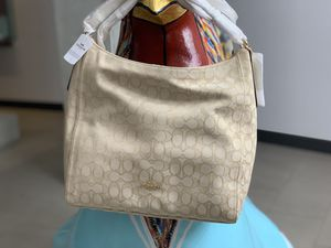 Coach Celeste Hobo Crossbody Khaki White Handbag for Sale in Miami, FL