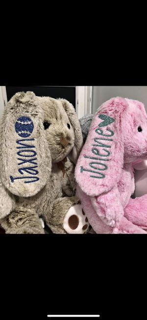 Custom bunny stuffed animals for Sale in Monroe, MI