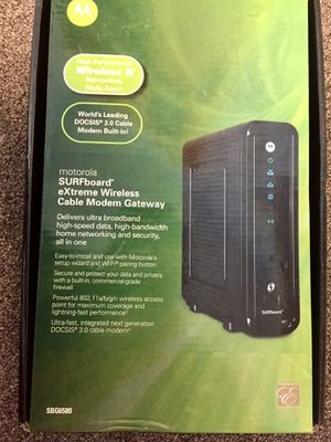 SURFboard eXtreme Wireless Cable Modem Gateway for Sale in Revere, MA