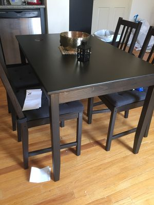 IKEA dark wood dining table and chairs for Sale in San Diego, CA