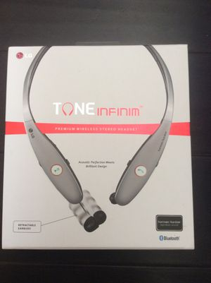 LG Tone Infinim HBS-900 Wireless Stereo Headset, Silver for Sale in San Diego, CA