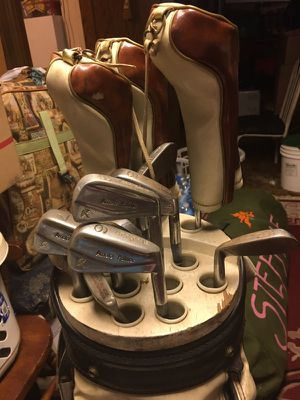 Burton golf clubs and leather bag for Sale in Cleveland, OH