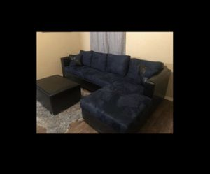 Dark blue couch with ottoman for Sale in Glendale, AZ