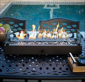 🔥Outdoor Tabletop Fire Pit Patio Table Top Propane Fireplace 🔥 for Sale in Beaumont, CA