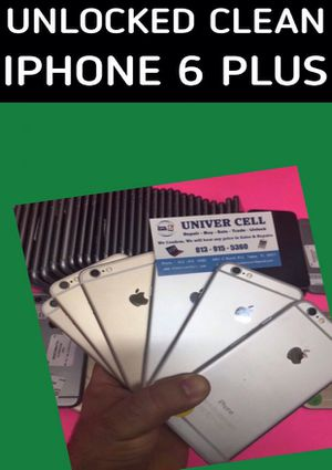 IPHONE 6 plus unlocked for any carrier clean with warranty for Sale in Tampa, FL