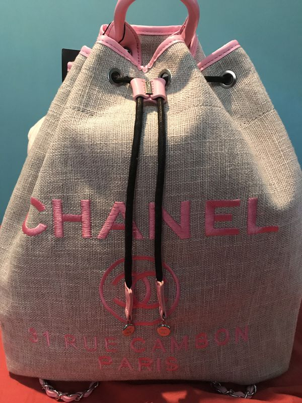 Chanel Backpack book bag tote