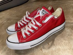 BRAND NEW RED CONVERSE- SIZE 9 MEN for Sale in Lawrenceville, GA