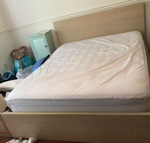 IKEA bed with 4 drawers and queen mattress for Sale in Fairfax, VA
