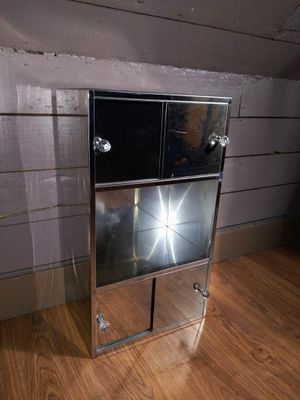 Pretty Reflective Silver Cabinet for Sale in Everett, WA