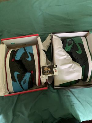 Air Jordan 1 Pine green/UNC to CHI for Sale in Los Angeles, CA