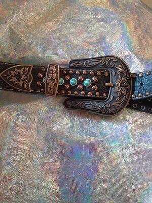 Nocona CO. Turquoise Belt. Leather. for Sale in Waterloo, IA