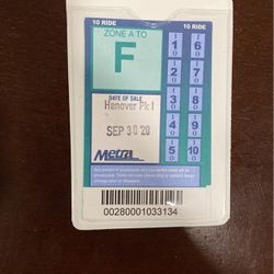 Metra Pass for Sale in Bartlett,  IL
