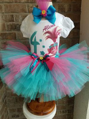 Custom Poppy Trolls Tutu Outfit for Sale in Hampton, GA