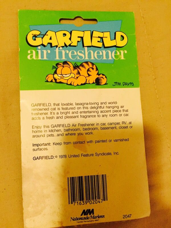 garfield air freshener vintage 1978 for Sale in Brooklyn, NY - OfferUp
