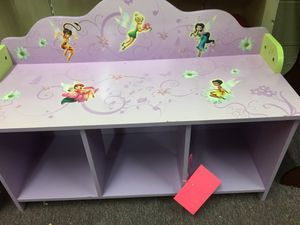 Lavender Purple Disney Princess Wooden shelf bench seat for Sale in Old Hickory, TN