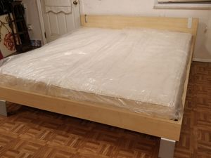 King size bed frame with mattress in good condition for Sale in Annandale, VA