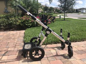 City Select Double Stroller Frame with car seat attachment and boogie board for Sale in Estero, FL