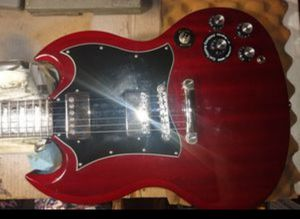 """SG PRO"" Epiphone by GIBSON Guitar, Limited Edition Custom Shop✓ Mint✓ coil splitting ✓ vintage Gibson tuners✓Spa* set up✓New strings✓Gibson SG bag ✓ for Sale in Spring, TX"